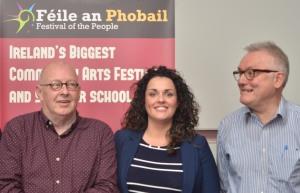 Joe Austin (Sinn Fein), Gemma Weir (Workers Party) and Ciaran Higgins (People Before Profit)